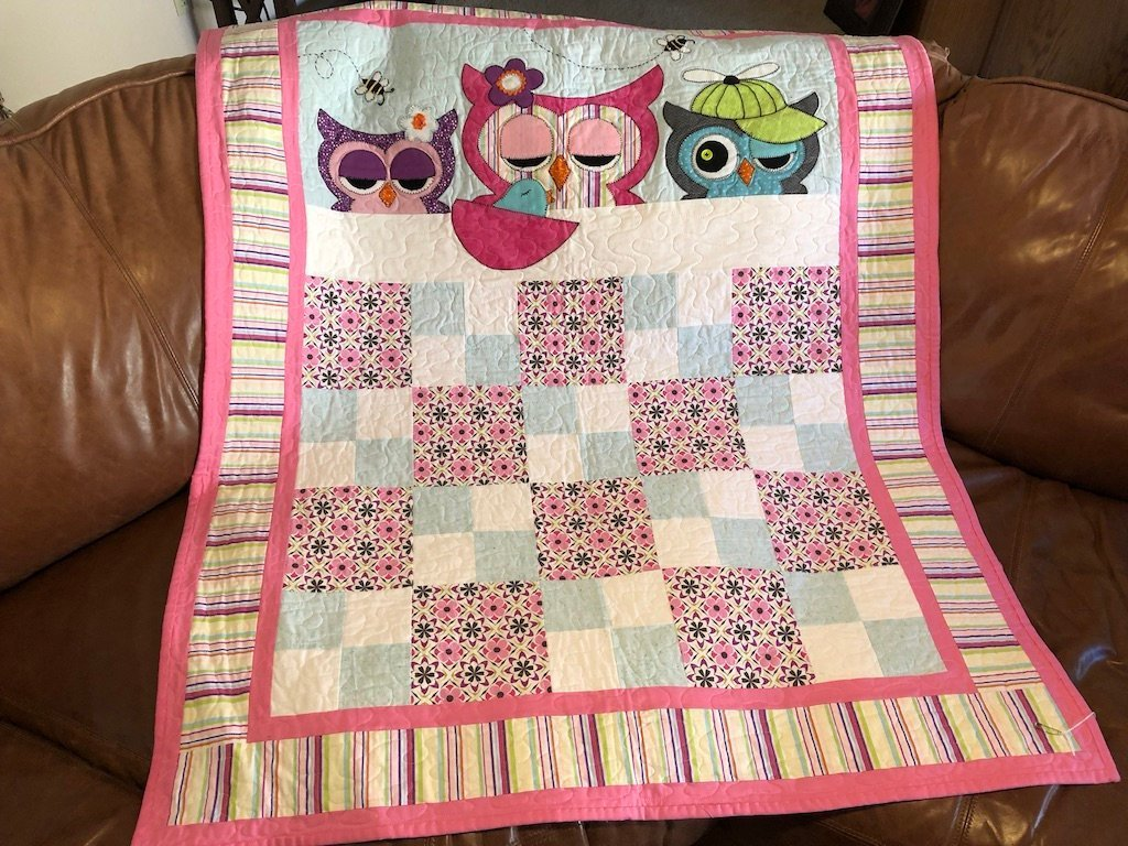 Baby Quilt Patterns.Owl Quilt Pattern Now I Lay Me Down To Tweep Creative Pursuits Etc